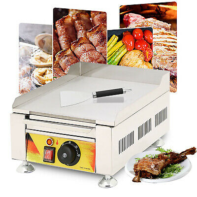 Commercial Electric Fried Flat Cooking Griddle Grill Iron Machine Furnace 110v