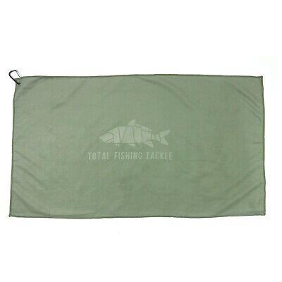 Total Fishing Tackle Microfiber Towel Green NEW Carp Fishing Equipment
