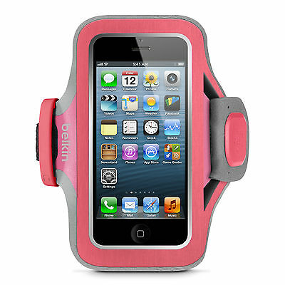 Image of Belkin F8w299 Slim Fit Armband Card Pocket For Iphone Se 5 5s 5c Ipod Touch 5th