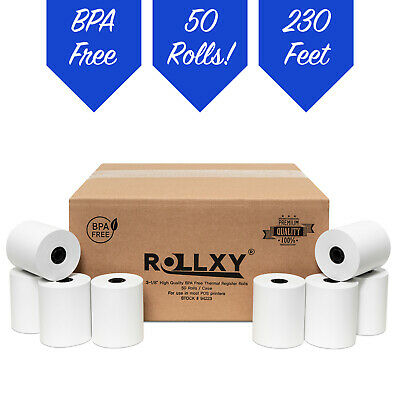 3-18 X 230 Thermal Pos Receipt Printer Roll Paper Bpa Free Usa - 50 Rolls