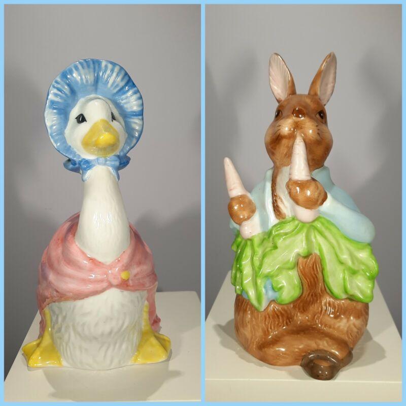 Schmid Beatrix Potter Peter Rabbit & Jemima Puddle-Duck Porcelain Nightlights
