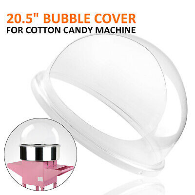 New Cotton Candy Machine Pink Floss Maker Party 20.5 Bubble Shield Cover Clear