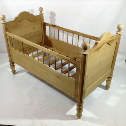 Antique Gründerzeit Era Child Cot Dolls Wiege Bed Vintage Art Nouveau Furniture