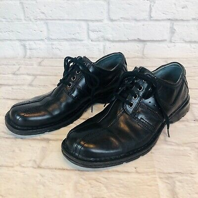 Clarks Touareg 70851 Mens 10.5 M Black Leather Lace Up Comfort Oxford Shoes d1n