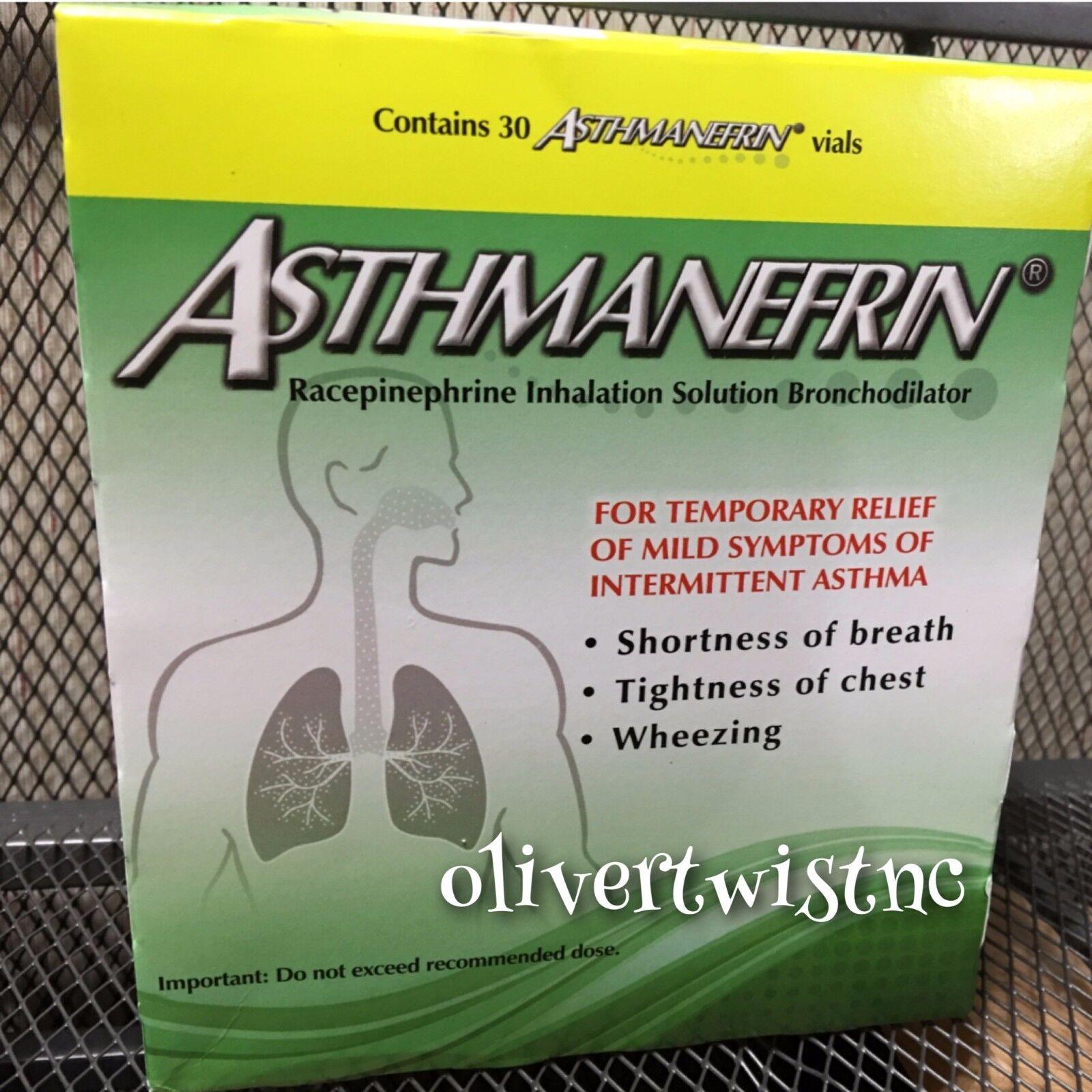 Asthmanefrin Asthma Inhaler Refill 30 Vials Factory Seale...