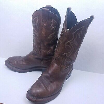 Double H DH1554 Mens Size 9.5D Black Ice Work Western Cowboy Boots