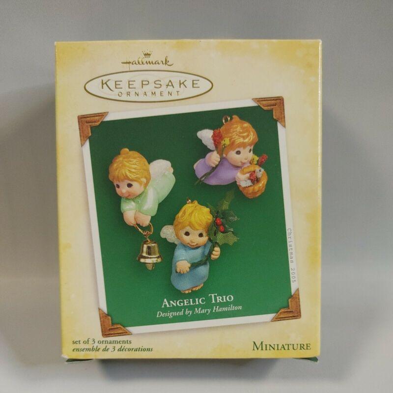 Angelic Trio 2005 Miniature-Set Of 3 Tiny Heavenly Angels,Hallmark Ornaments
