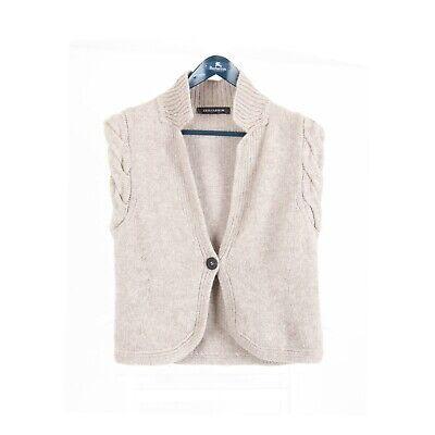Iris von v Arnim Women's 100% Cashmere Cardigan Sweater Waistcoat Size L Vest