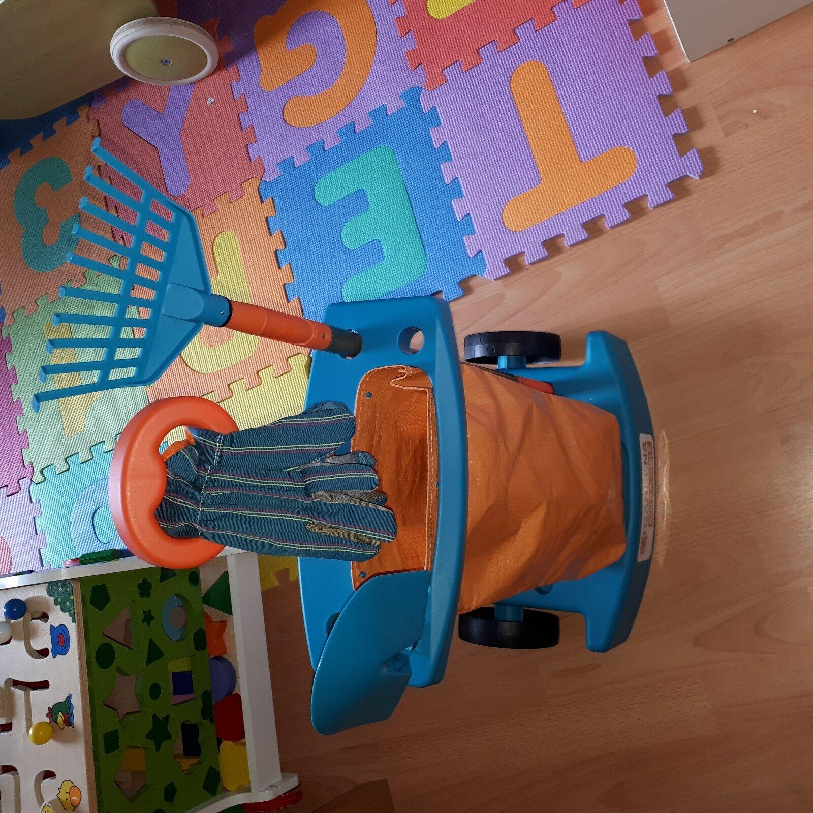 GARDENA Gartengeräte Set für Kinder Gardening Trolley G50082 Schaufel Rechen NEU