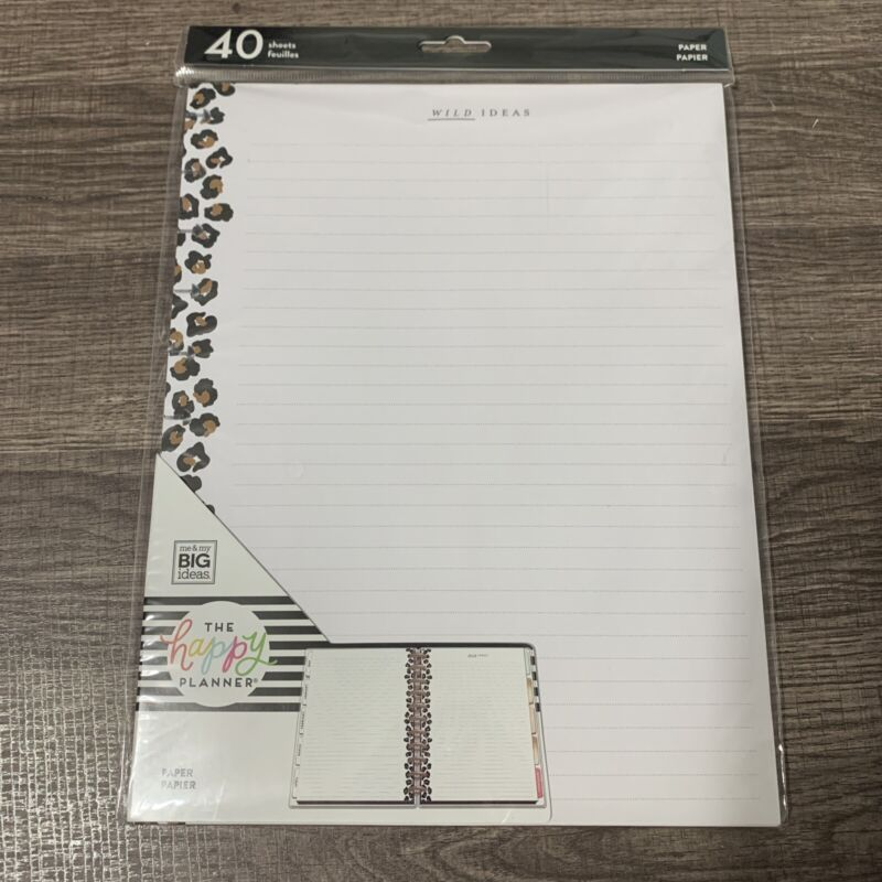 "Happy Planner 40-pk Leopard ""Wild Ideas"" Filler Paper -BIG"