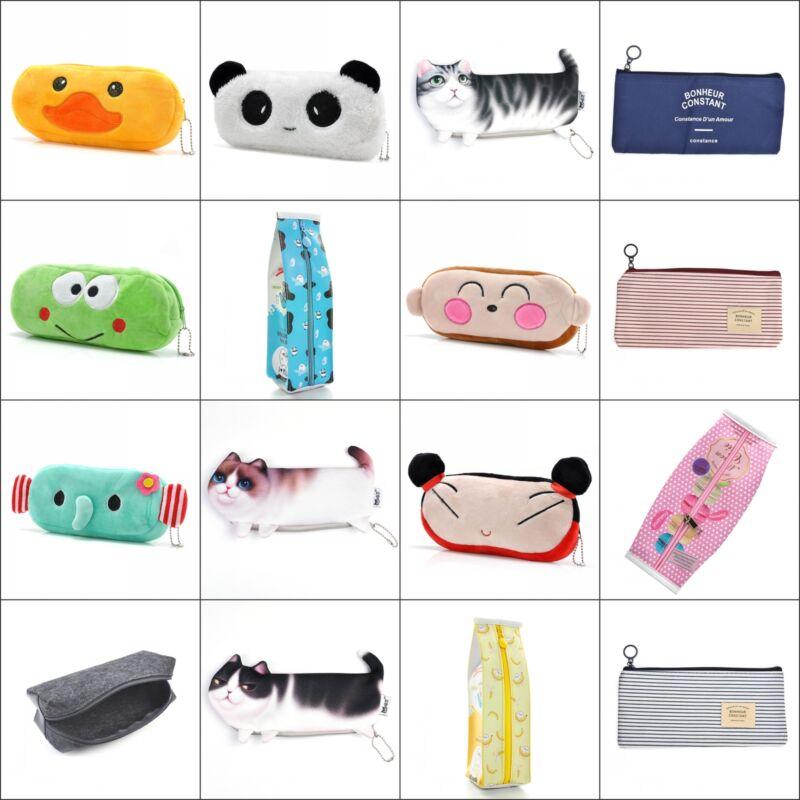 Hot Sale Cute Soft Plush Pencil Case Pen Pocket Makeup Cosme