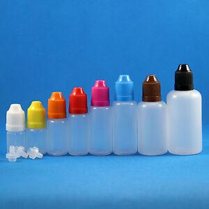 Lot-100-Pcs-3-50ml-Plastic-Dropper-Squeezable-Bottles-Child-Proof-Safe-White-Cap