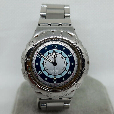 """Swatch Irony Watch SCUBA YDS101 """" Green Coral """" 1995 - Vintage"""