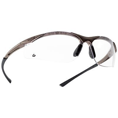 Bolle 40044 Contour Safety Glasses Clear Anti-fog Lens Gunmetal Frame