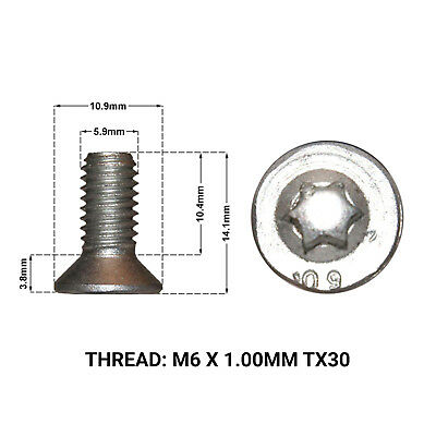2X FRONT BRAKE DISC RETAINING SCREWS FITS: PEUGEOT 407 04- DRS1671B