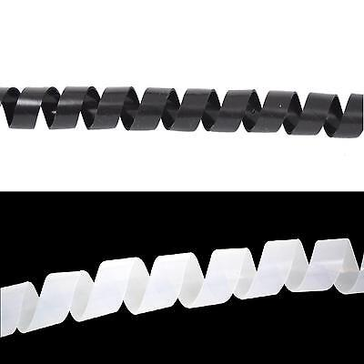 Kabelspirale Spiralband Kabelschlauch Kabelschutz 10 Meter Schwarz/Transparent