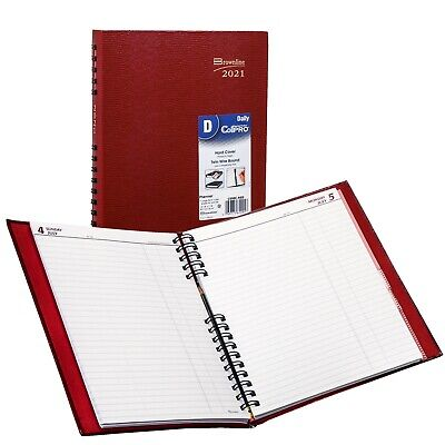 2021 Brownline C550c.red Coilpro Daily Planner Hard Cover 10 X 7-78