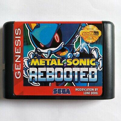 Games Cartridge - Metal Sonic Rebooted 16 Bit MD Sega Mega Drive Genesis