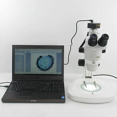 Nikon Smz 745t Stereo Microscope W 3.1mp Camera Pc Light Stand 10x Eyepieces