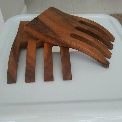 Ironwood Gourmet Bear Claw Salad Servers Acacia Wood 2-Piece Set