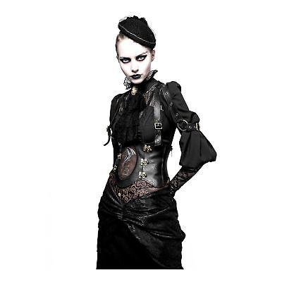 Women's Steampunk Western Dragon Girdle Corset Gothic Goth Costume Faux Leather