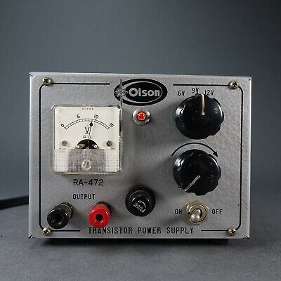Olson Ra 472 Transistor Power Supply 6-9-12 Vdc Tested Working Vintage