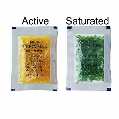 35 Packs10 Gram Dry Dry Orange Indicating Silica Gel Packets - Reusable