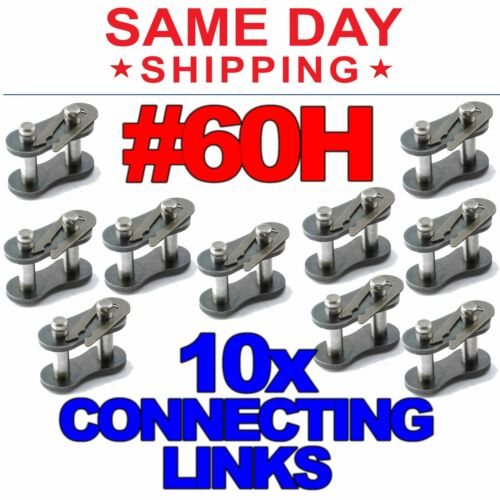 #60H Heavy Duty Roller Chain Connecting Links (Lot of 10)