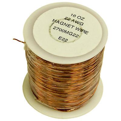 22 Gauge Enamel Magnet Wire - 500 Feet 1 Pound Spool