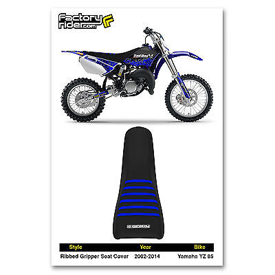Enjoy MFG Ribbed Seat Cover for Suzuki RM 85 Black Ribs All Black