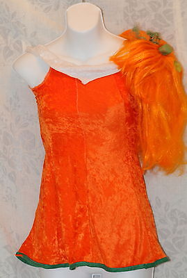 Orange Pumpkin Hair Rubies Spice Girl Child Party Fantacy Play Costume Dress - Spice Girl Costumes