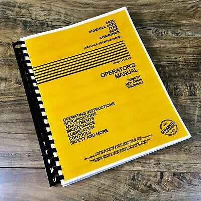 Operators Manual For John Deere 6620 7720 8820 Combine Owners Book 551901-600000