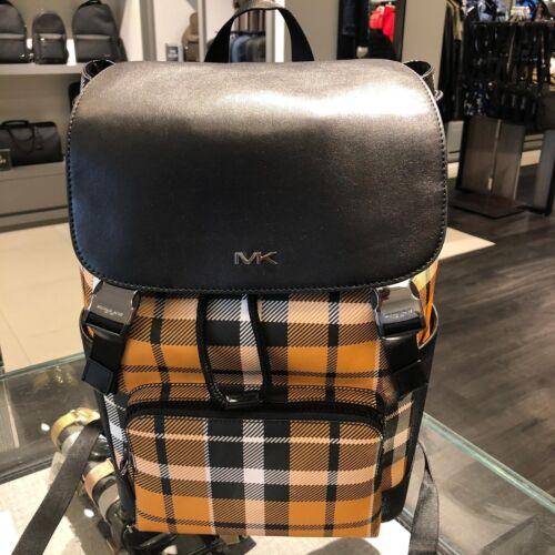 Michael Kors Mens Cooper PVC Leather Backpack Rucksack Bookb