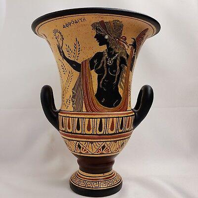 Antike Griechische Göttin Aphrodite Venus & Gott Zeus Selten Kunst Töpferei Vase ()