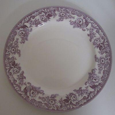 Spode Delamere Bouquet Coupe Buffet Chop Plate Dinnerware Lavender Floral unmark Spode Buffet Plate