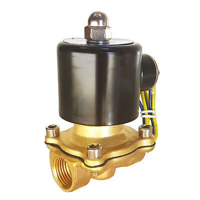 Hfsr 110v Ac 34 Electric Solenoid Valve Water Air Gas Fuels Nc - Brass