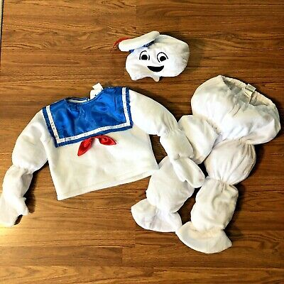 Toddler Stay Puft Marshmallow Man Costume (Ghostbusters Stay Puft Marshmallow Man Child Toddler Costume 3 Piece Size)