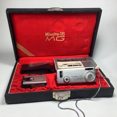 Vintage Minolta 16 MG Flash Spy Film Subminiature Camera Mini Boxed Set Kit