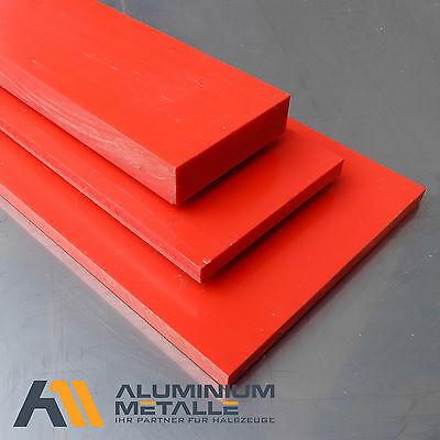 Stärke 6mm rot PVC-U Kunststoff Plastik flach  (Plastik Platte Platten)