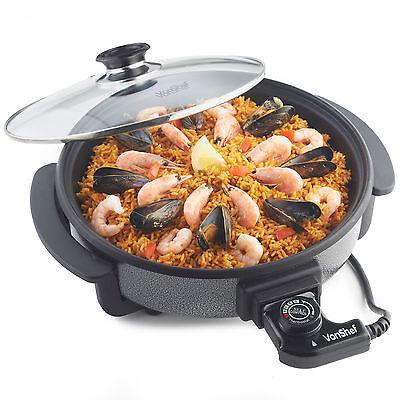 VonShef 1500 Watt Multi Cooker with Medium 30cm Diameter Electric Frying Pan