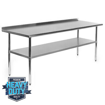 Open Box - Stainless Steel Commercial Prep Table With Backsplash - 30 X 72