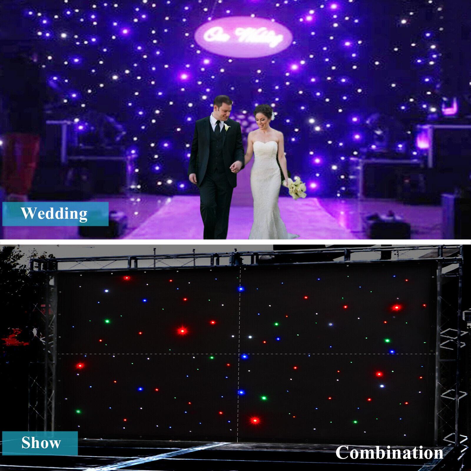 LED Stage Drape Starry Sky Cloth 2x3m Starlit Curtain Backdrop