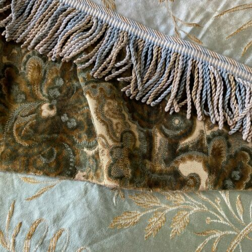 Antique Vintage French Fabric Scraps Pack Shimmer Silk Damask