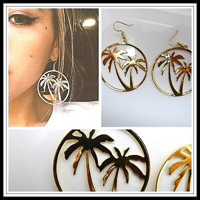 1 Pair Large Palm Tree Earrings Pierced Fashion Costume Gift Idea Bohemian Boho](Paired Costume Ideas)