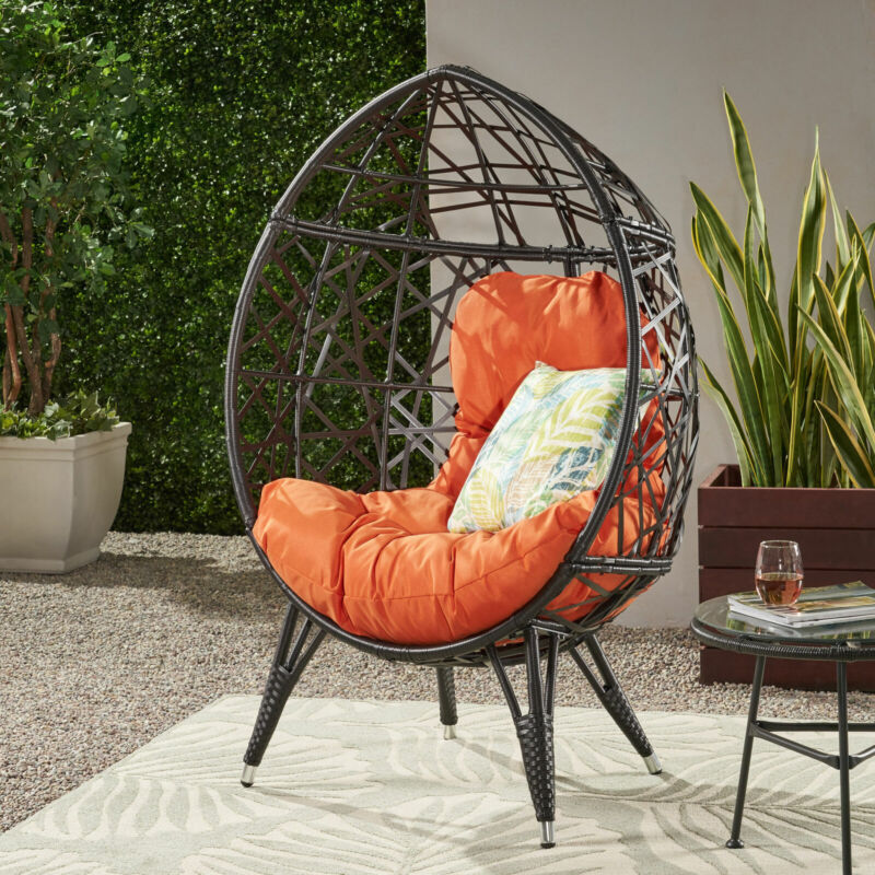Bodee Outdoor Freestanding Wicker Teardrop / Egg Chair