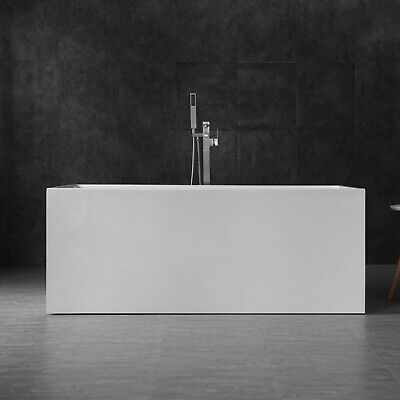 "WOODBRIDGE 59"" Acrylic Freestanding Bathtub Contemporary Soaking BTA0085"
