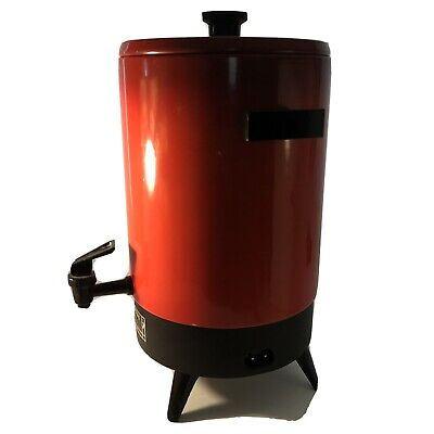 Rare Vintage Coffee Perculator Bradford 8434 32 Cup Electric Red