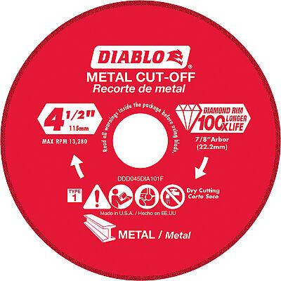 Diablo 4.5in. Metal Cutting Diamond Disc Model Ddd055dia101f