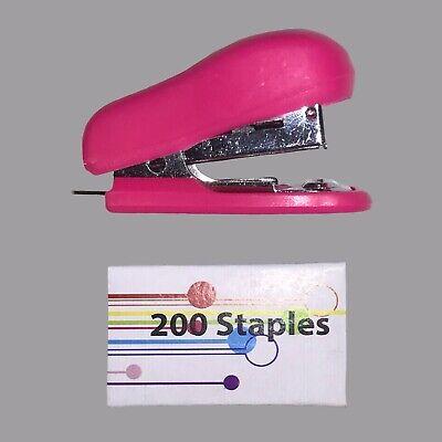 New Mini Stapler 200 Staples Perfect For Schooltravel 12 Piece Of Paper Max