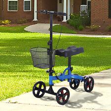 Portable Knee Scooter Foldable Knee Walker Crutch  Alternative W/ Non-Marking